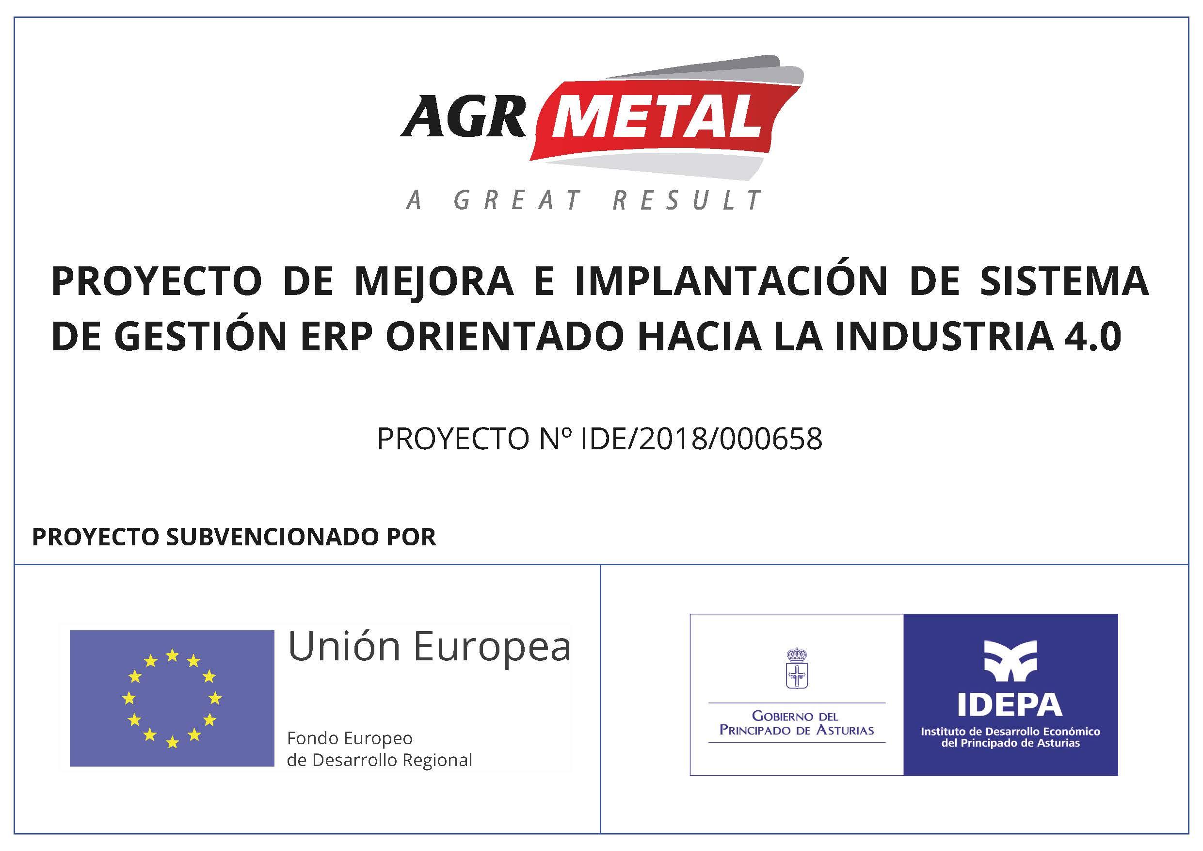 PROYECTO DE MEJORA E IMPLANTACIÓN DE SISTEMA DE GESTIÓN ERP ORIENTADO HACIA LA INDUSTRIA 4.0